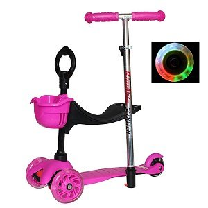 Rimable Baby Adjustable Height 3in1 Kick Scooter